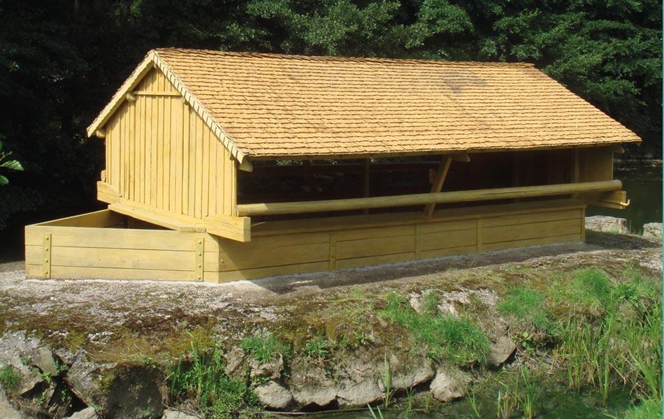 Lavoir-Bateau à Semur - Association Sentiers, Dijon, chantiers d'insertion professionnel