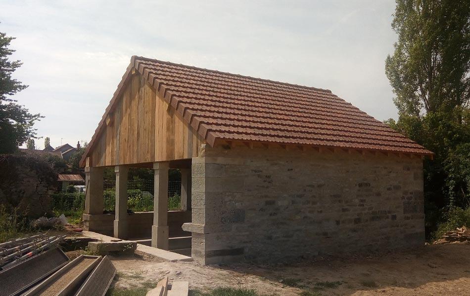 Lavoir de Veronnes - Association Sentiers, Dijon, chantiers d'insertion professionnel