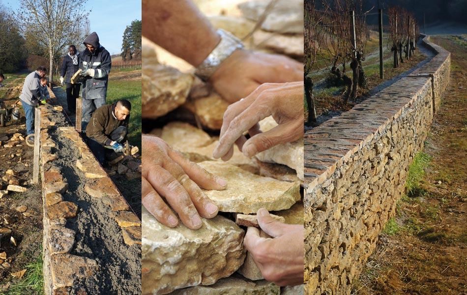 Murs de pierre - Association Sentiers - Dijon